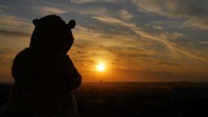 Съёмка на закате